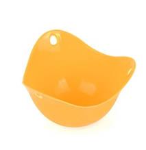 Силиконовая формочка для приготовления яиц пашот оранжевая - размер 9*6,5см, силикон