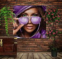 Мобильная картина-постер (гобелен) на ткани с 3D с принтом Джей Ло