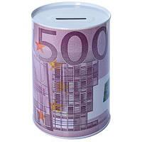 "Скарбничка-бляшана банку ""500 євро"" 8х12см"
