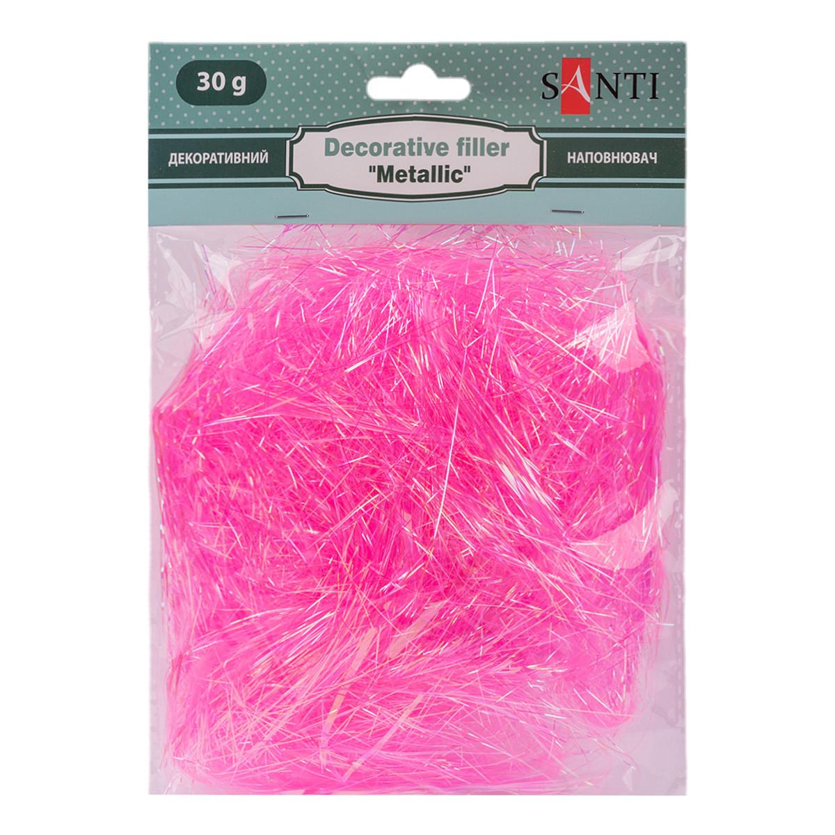 Наполнитель декоративный SANTI «металлик», 30 г, розовый.