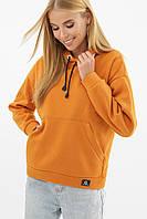 Женский свитшот с начесом Хантер оранжевого цвета на длинный рукав