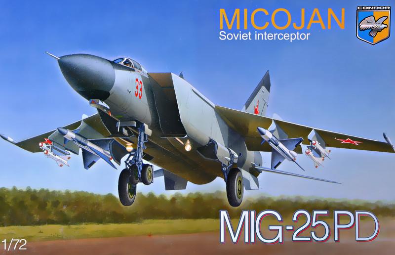 Советский перехватчик МиГ-25ПД. Сборная модель в масштабе 1/72. CONDOR 72016