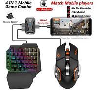 Геймпад Pubg для мобильных телефонов, Bluetooth 4,0, игровой контроллер, клавиатура, мышь конвертер, фото 1