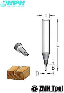 Фреза WPW прямая пазовая S=6 D=2x5x43 Z=1