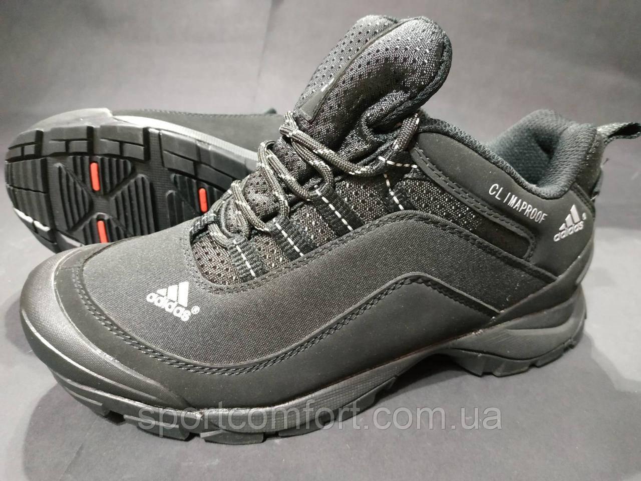 Кроссовки термо мужские Adidas Climaproof черные размер 41 маломерка