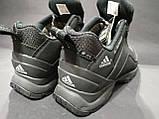 Кроссовки термо мужские Adidas Climaproof черные размер 41 маломерка, фото 2