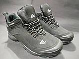 Кроссовки термо мужские Adidas Climaproof черные размер 41 маломерка, фото 3