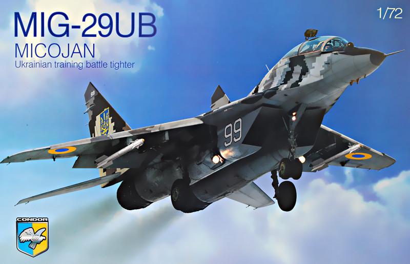Истребитель боевой подготовки МиГ-29 УБ. Сборная модель самолета в масштабе 1/72. CONDOR 72008