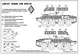 Фототравленные детали для сборной моели. Дополнительное бронирование БТР-70. 1/72 ACE PE7266, фото 2
