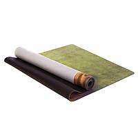 Коврик для йоги и фитнеса Zelart Yogamat двухслойный 3 мм замшевый, каучук (FI-5662-49)