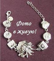 Посеребрённый стильный браслет Брендиссимо, фото 1