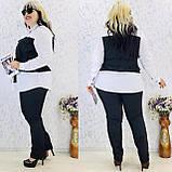 Женский брючный костюм блузка и брюки 3 расцветки размер: 58-60, фото 3