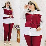 Женский брючный костюм блузка и брюки 3 расцветки размер: 58-60, фото 4