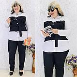 Женский брючный костюм блузка и брюки 3 расцветки размер: 58-60, фото 2