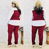 Женский брючный костюм блузка и брюки 3 расцветки размер: 58-60, фото 5