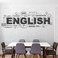 Виниловая наклейка на стены English (английский язык, в класс, в школу)