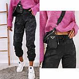 Женские спортивные брюки плотный трикотаж на меху, водонепроницаемая, р.42-44,44-46 Код 208Р, фото 4