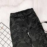 Женские спортивные брюки плотный трикотаж на меху, водонепроницаемая, р.42-44,44-46 Код 208Р, фото 7