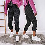 Женские спортивные брюки плотный трикотаж на меху, водонепроницаемая, р.42-44,44-46 Код 208Р, фото 6