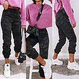 Женские спортивные брюки плотный трикотаж на меху, водонепроницаемая, р.42-44,44-46 Код 208Р, фото 5