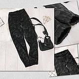 Женские спортивные брюки плотный трикотаж на меху, водонепроницаемая, р.42-44,44-46 Код 208Р, фото 8