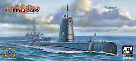 """Подводная лодка """"Guppy II"""" (R. O. C. Taiwan navy submarine). 1/350 AFV CLUB 73513"""