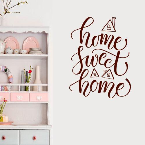 Наклейка на стіну Home sweet home (дім, милий дім, в передпокій)