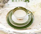 Немецкая чайная тройка, чашка, блюдце, тарелка, фарфор, Германия, K&A Krautheim,  Bavaria, фото 2