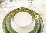 Немецкая чайная тройка, чашка, блюдце, тарелка, фарфор, Германия, K&A Krautheim,  Bavaria, фото 3