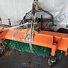 Щітка комунальна з бункером для міні-тракторів МТЗ 320, Foton, Dong, Kubota, фото 2