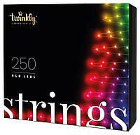 Twinkly Smart LED Гирлянда Twinkly Strings RGB 250, BT+Wi-Fi, Gen II, IP44, кабель черный