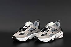 Женские кроссовки Nike M2K Tekno. Grey.  ТОП реплика ААА класса., фото 3