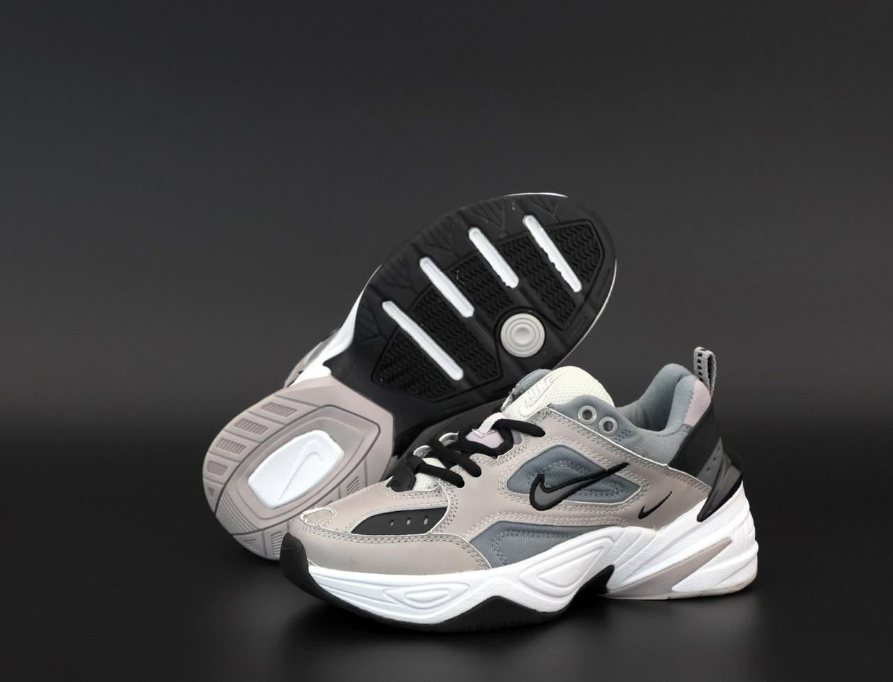 Женские кроссовки Nike M2K Tekno. Grey.  ТОП реплика ААА класса.