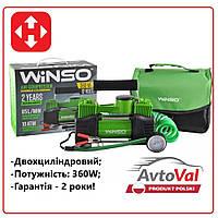 """КРАЩА ЦІНА! Автомобильный компрессор Winso 125000 """"2 циліндровий"""" Польща"""