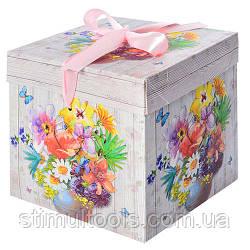 """Коробка подарункова паперова Stenson """"Літо"""" 30*30*30 см"""