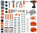 Детский набор инструментов Smoby Смоби интерактивная мастерская 95 аксессуаров Black+Decker 360702, фото 3