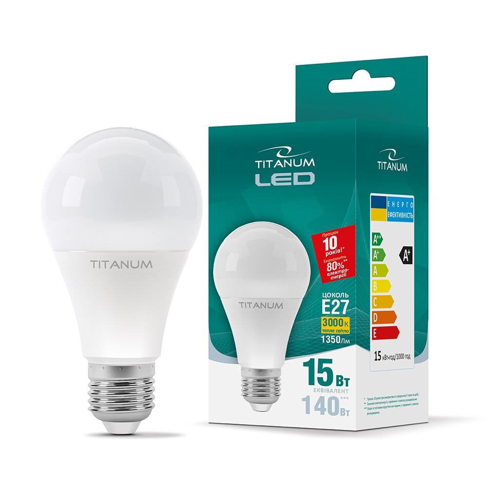 LED лампа TITANUM A65 15W E27 3000K 25683 TLA6515273