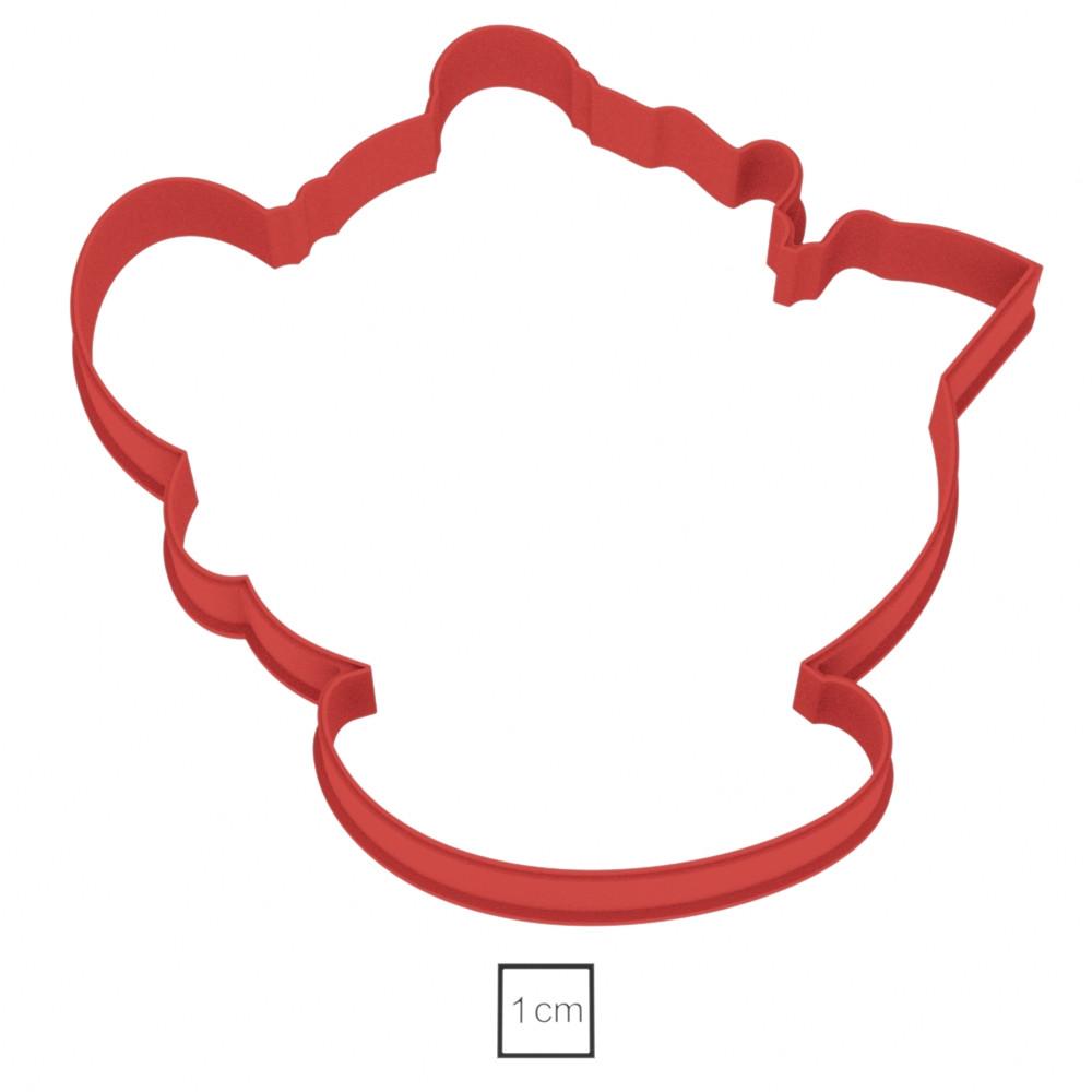 Висічка для пряника у вигляді чайника