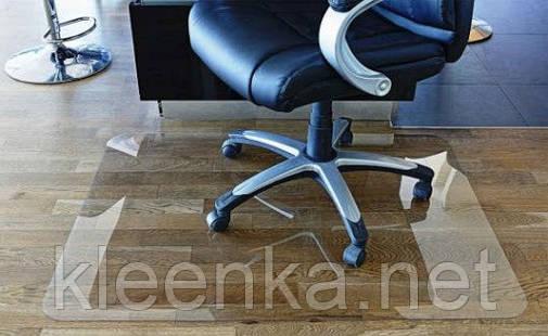 Защитный прозрачный коврик, мягкое стекло на пол под кресло и другую мебель для защиты паркета, линолеума, фото 2