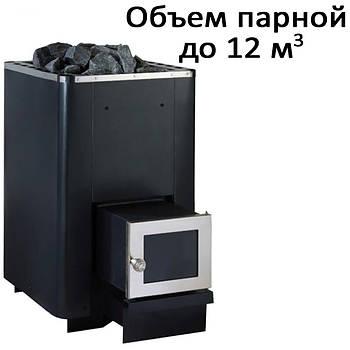 Печь банная,c выносом, стеклянная дверь, н/ж PК-12SL (12кВт)