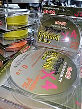 Шнур плетенный NTEC X-Touch 6lb 0.10mm 137м желтый