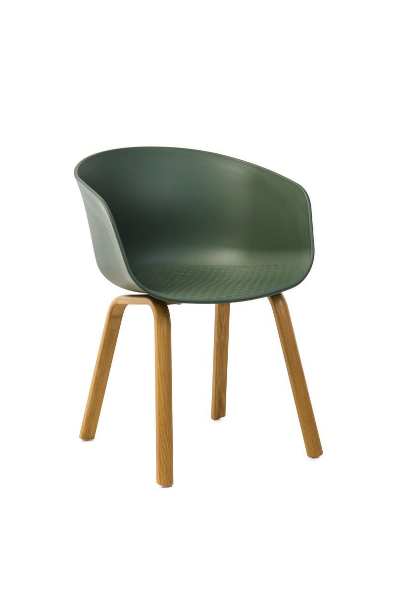 Кресло P-08 нефритовый (зеленый) пластик от Vetro Mebel