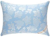 """Подушка для сна голубая 50х70 """"ROSALIE"""" тик_искусственный лебяжий пух (211036-2)"""