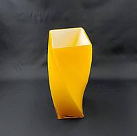 Скляна ваза декоративна HC6004 помаранчова рефлена