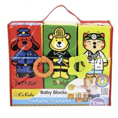 Розвиваюча іграшка K's Kids м'які Кубики з гризунками