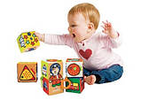 Розвиваюча іграшка K's Kids м'які Кубики з гризунками, фото 3