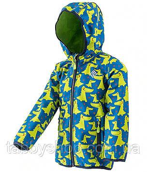 """Демисезонная термокуртка softshell PIDILIDI """"Крокодил"""" для мальчика. Размеры: от 68 до 110"""