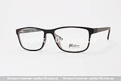 Чорна матова тонка оправа для окулярів. Підійде і на середню, і на широку перенісся