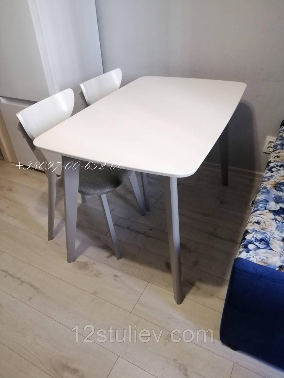 Комплект Стіл +2 Стільці Модерн Білий з Сірим