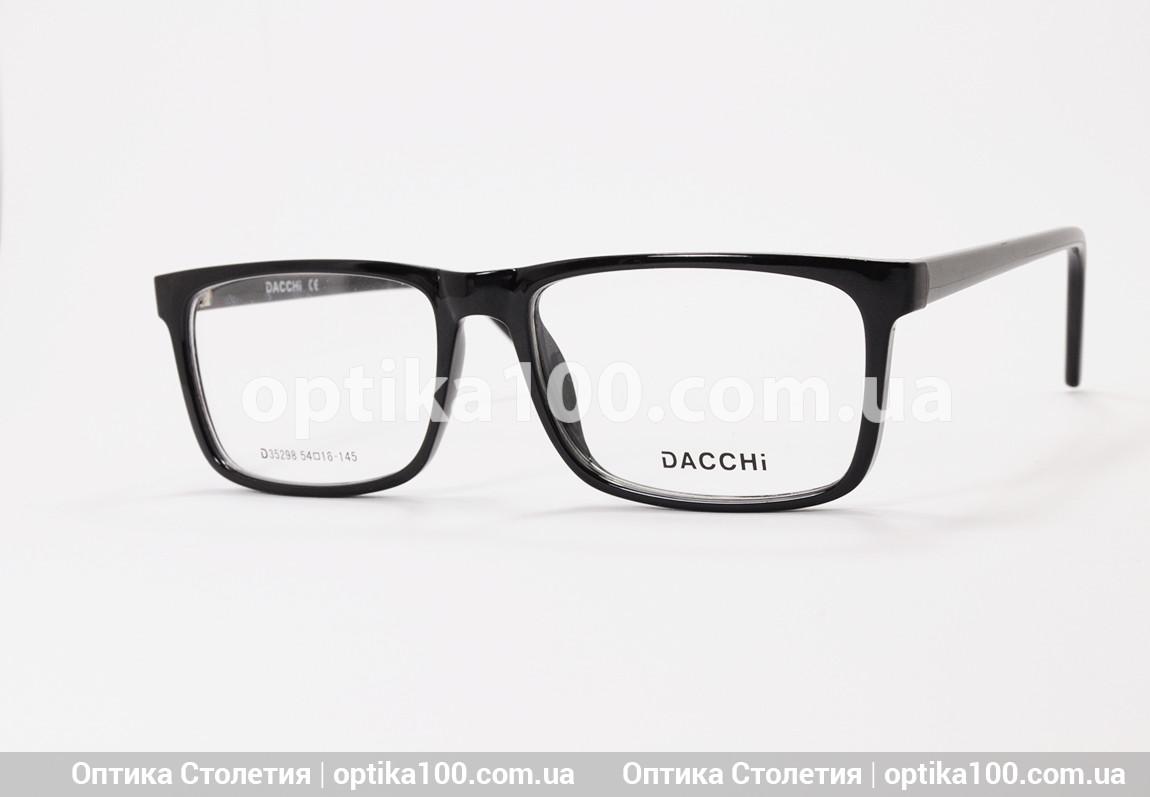 Черная мужская прямоугольная оправа для очков